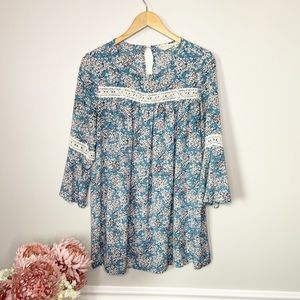 MISTIC PRYSM BY LISTICLE Blue Tunic Boho Dress Top